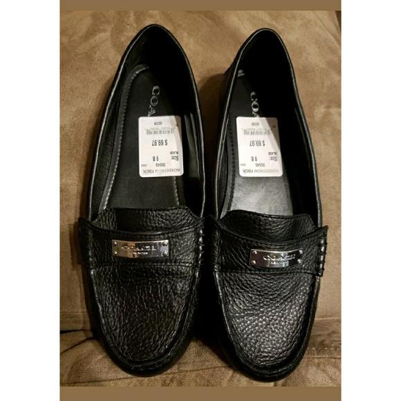 83acb4a72f5 Coach Shoes - Fredrica Black Coach Loafers size 9B